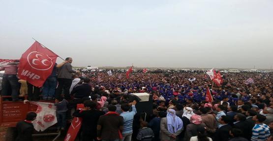 MHP Harran ve Akçakale'de alana sığmadı