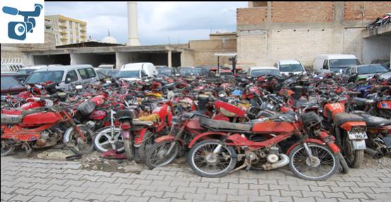 Motosikletler Eritilip Demir'e Dönüşecek