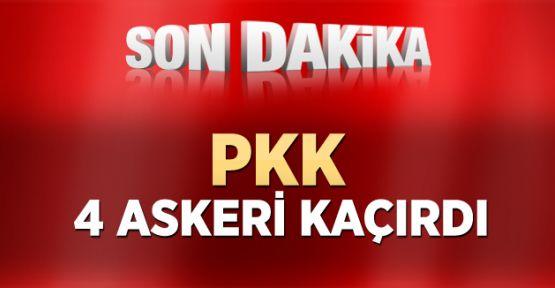 PKK'lılar Yol Kesti, Dört Askeri Kaçırdı