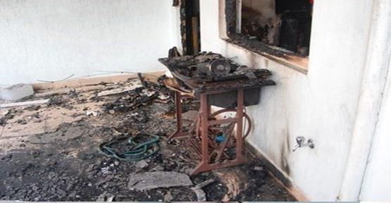 Şanlıurfa Yangın eşyalar kullanılmaz hale geldi.
