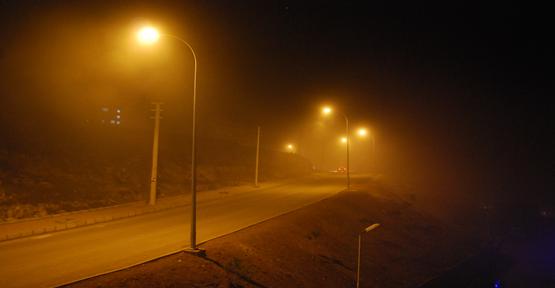 Şanlıurfa yoğun sis etkili oldu