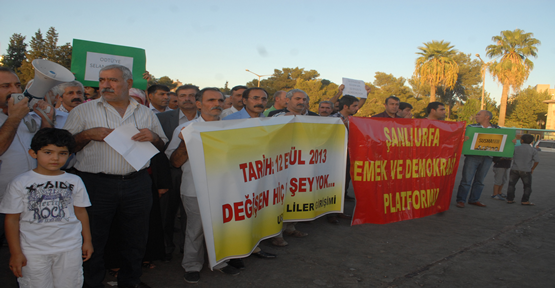 Şanlıurfa'da 12 Eylül Protesto Edildi
