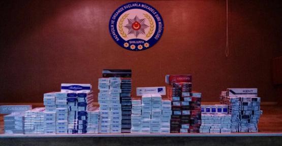 Şanlıurfa'da, 22 bin paket kaçak sigara ele geçirildi