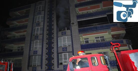 Şanlıurfa'da Apartmanın 4. Katında Yangın