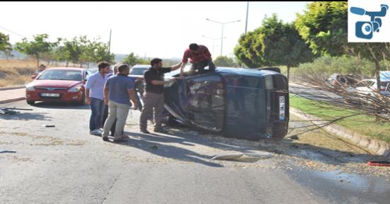 Şanlıurfa'da araç takla atı