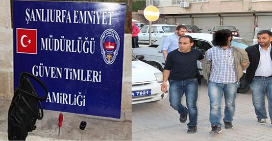 Şanlıurfa'da hırsızlık 1 kişi gözaltına alındı.