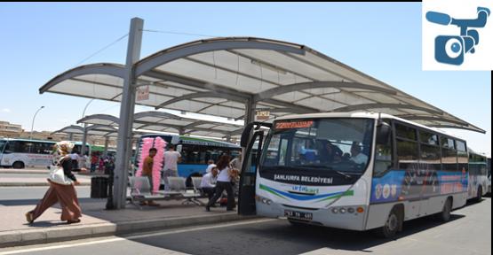 Şanlıurfa'da Serinleten Otobüs Durakları