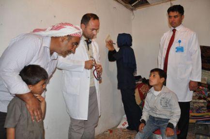 Suriyelilere sağlık hizmeti veriliyor