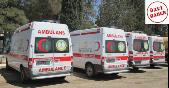 Suudi Ambulanslar  Parkta Bekletiliyor
