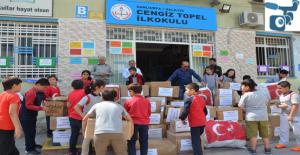 Urfalı öğrencilerden Afrin'e yardım