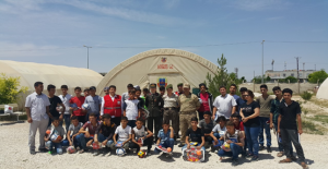 Süleyman Şah Kampında Kalan Çocuklara Trafik Semineri