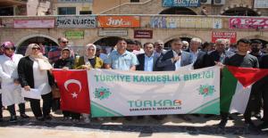 Urfa'da Kudüs vahşeti protesto edildi