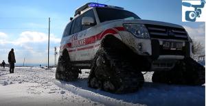 Sağlık Müdürlüğü 4X4 Arazi Paletli Ambulanslarla Hizmet Verilmeye Başladı