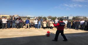 OSB İşçilerine Yangın Tatbikatı