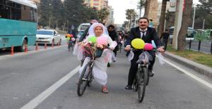 Şanlıurfa'da Bisikletle Tanıştılar, Bisikletle Konvoy Düğünü Yaptılar