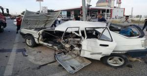 Urfa'da İki Otomobil Çarpıştı, 1 Yaralı