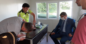 ANAVATAN Partisinden  Nöbet Tutan Polislere Ziyaret