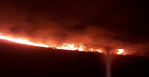 Suruç mayınlı bölgede çıkan yangın kontrol altın alındı