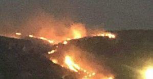 Halfeti#039;de büyük yangın