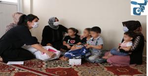 Urfa'da şiddet gören aileye sahip çıkıldı