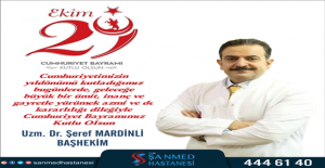 Başhekim Mardinli'den Cumhuriyet bayramı mesajı