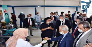HRÜ'de  Zeytin, Nar ve Fıstık Kabuğu Atıklarından Hayvan Yemi Üretim Tesisi Hizmete Girdi