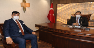 Başkan Aslan'dan Başkan Canpolat'a Ziyaret