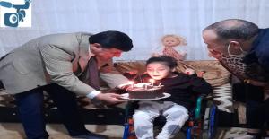 Başkan Aslan'dan  engelli kıza doğum günü sürprizi