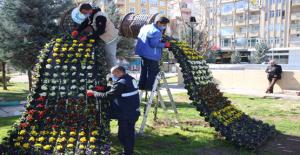 Haliliye'deki Parklarda Bahar Çalışmaları