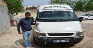 Çalınan Minibüsü Urfa polisi buldu