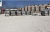 İçenin dört bir noktasında kilitli beton parke taşı döşeniyor