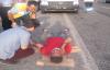 Urfa'da otomobil şarampole uçtu, 3 yaralı