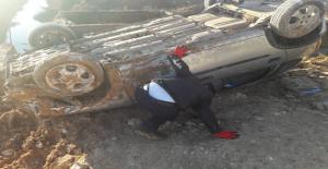 Urfa'da Otomobil Devrildi, 1 Yaralı