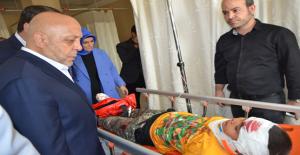Başkanlar Yaralıları Hastanede Ziyaret Etti