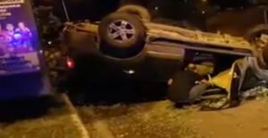 Urfa'da Araç Takla Attı, 1 Yaralı