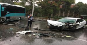 Otobüs Yolunda Kaza, 1 Yaralı