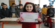 Suriyeli öğrenciden istiklal marşı