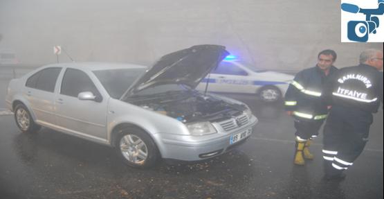 Toki yolunda araç yangını