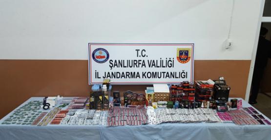 Urfa'da bitkisel ürün satan iş yerine operasyon