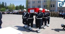 Urfa'da şehit düşen polise son görev