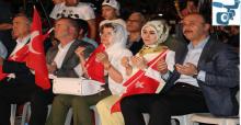 Urfa'da Vatandaşlar Ellerinde Türk Bayraklarıyla 15 Temmuz'u Andı