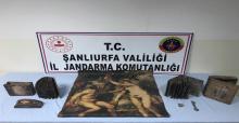 Şanlıurfa'da tarihi eser ve silah kaçakçılığı operasyonu: 2 gözaltı