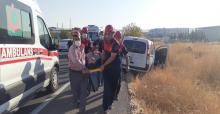 Urfa'da sıkışmalı trafik kazası