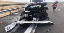 Urfa'da feci kaza baba ve oğul hayatını kaybetti