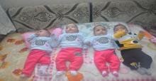 """Baba'nın """"dördüz"""" bebek sevinci... 'Bez ve mamaya yetişemiyoruz'"""