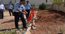 Urfa'da Türk Bayrağına büyük saygısızlık