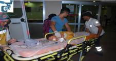 Bir yaşındaki kız süt kazanına düşüp yaralandı