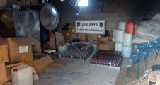 Urfa Jandarma'dan sahte içki operasyon