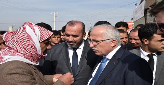 Vali Tuna Süleymanşah çadır kentte