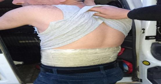 Vücuduna Sardığı Uyuşturucuyu Urfa'da Satacaktı